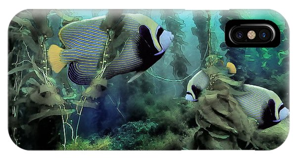 Kelp And Queen Anglefish IPhone Case
