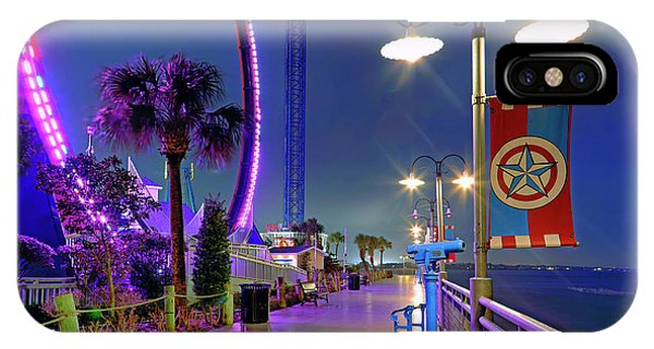 IPhone Case featuring the photograph Kemah Boardwalk - Amusement Park - Texas by Jason Politte