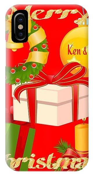 Ken And Lori Xmas Greeting  IPhone Case