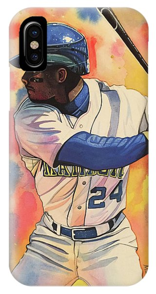 f8bc777879 Ken Griffey Jr. Seattle Mariners Phone Case by Michael Pattison