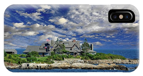 George Bush iPhone Case - Kennebunkport, Maine - Walker's Point by Russ Harris