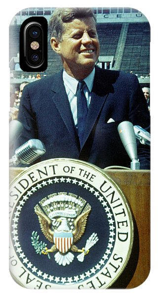 Kennedy At Rice University IPhone Case