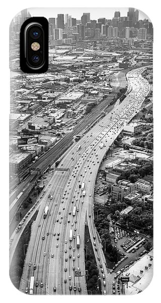 IPhone Case featuring the photograph Kennedy Expressway And Chicago Skyline by Adam Romanowicz
