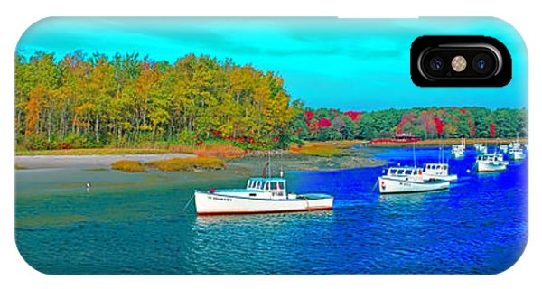 IPhone Case featuring the photograph Kennebunkport, Maine, Lobster Boats by Tom Jelen
