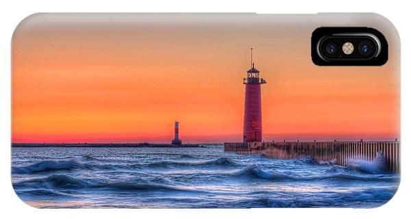 Kenosha Lighthouse Dawn IPhone Case