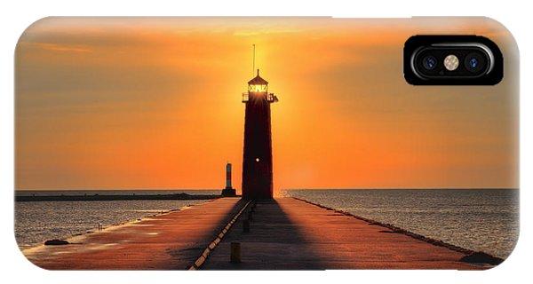 Kenosha Lighthouse Shining Light IPhone Case