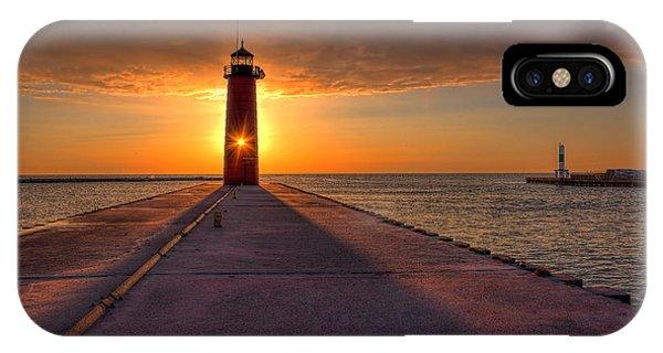 Kenosha Lighthouse Sunrise IPhone Case