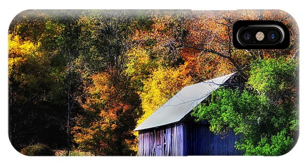 Kent Hollow II - New England Rustic Barn IPhone Case