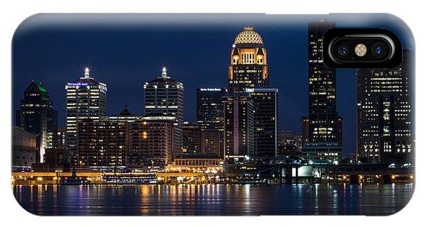 Louisville At Night IPhone Case