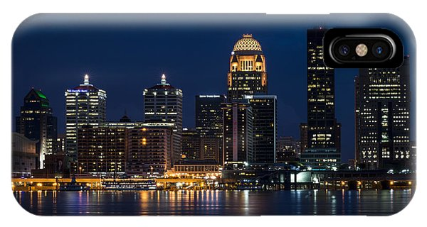 IPhone Case featuring the photograph Louisville At Night by Andrea Silies