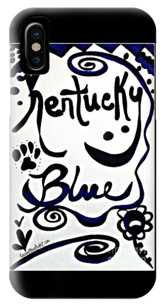 IPhone Case featuring the drawing Kentucky Blue by Rachel Maynard