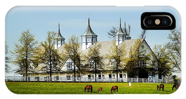 Revised Kentucky Horse Barn Hotel 2 IPhone Case