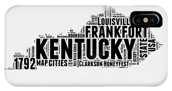 Kentucky Word Cloud Map 2 IPhone Case