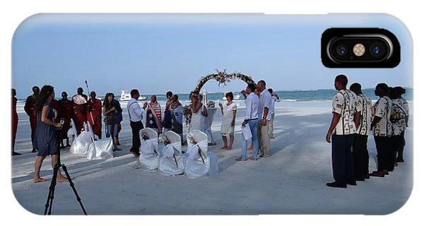 Exploramum iPhone Case - Kenya Wedding On Beach 2 With Maasai by Exploramum Exploramum
