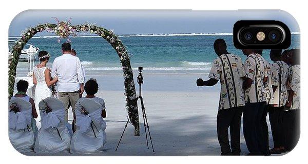 Exploramum iPhone Case - Kenya Wedding On Beach Happy Couple by Exploramum Exploramum