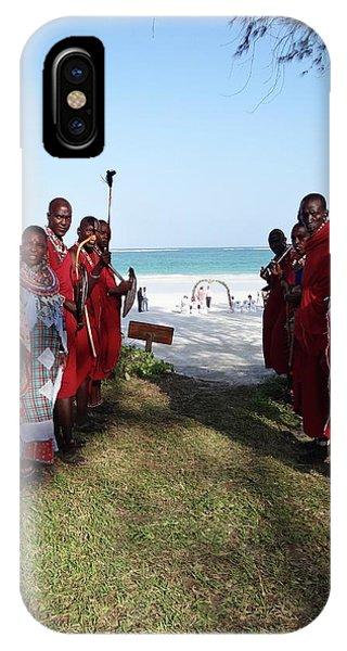 Exploramum iPhone Case - Kenya Wedding On Beach Maasai Bridal Welcome by Exploramum Exploramum