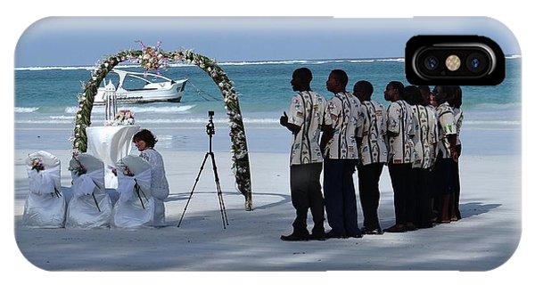 Exploramum iPhone Case - Kenya Wedding On Beach Singers by Exploramum Exploramum