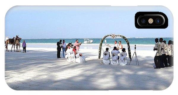 Kenya Wedding On Beach Wide Scene IPhone Case