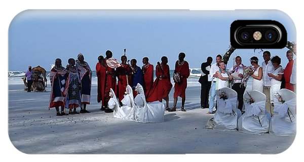 Exploramum iPhone Case - Kenya Wedding On Beach With Maasai by Exploramum Exploramum