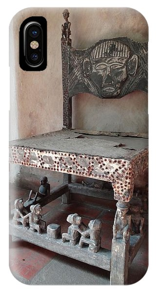 Kenyan African Antique Carved Chair IPhone Case