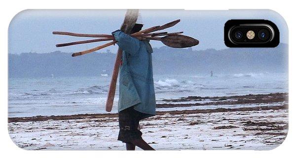 Exploramum iPhone Case - Kenyan Fisherman And Oars by Exploramum Exploramum