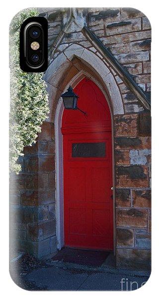 Red Church Door IPhone Case
