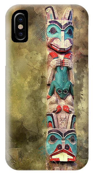 Ketchikan Alaska Totem Pole IPhone Case