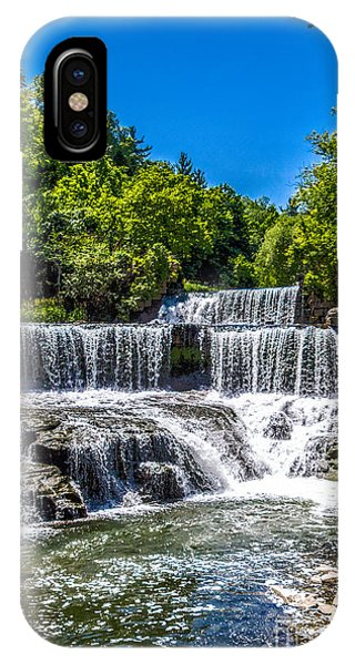 IPhone Case featuring the photograph Keuka Outlet Waterfall by William Norton