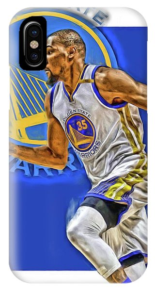 Ball iPhone Case - Kevin Durant Golden State Warriors Oil Art by Joe Hamilton