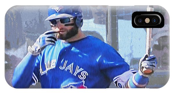 Kevin Pillar At Bat IPhone Case