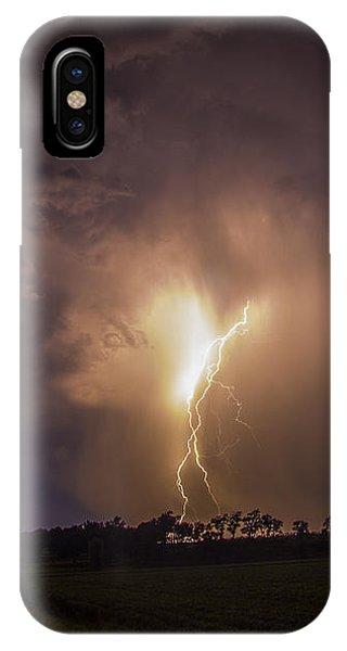 Nebraskasc iPhone Case - Kewl Nebraska Cg Lightning And Krawlers 014 by NebraskaSC