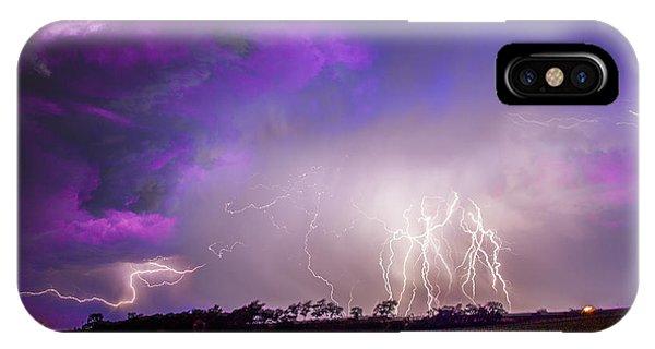 Nebraskasc iPhone Case - Kewl Nebraska Cg Lightning And Krawlers 038 by NebraskaSC