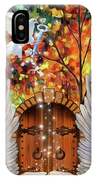 IPhone Case featuring the digital art Key To The Word by Jennifer Page