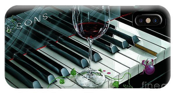 Grape iPhone X Case - Key To Wine by Michael Godard