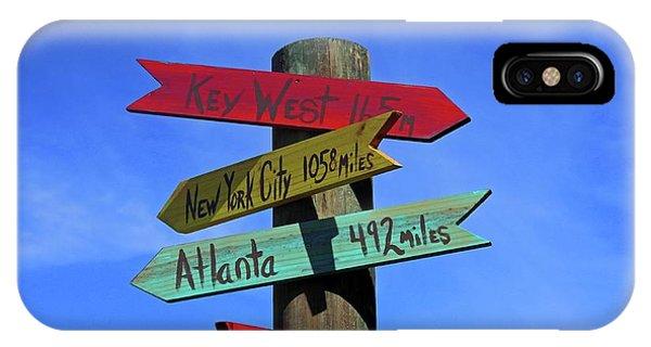 Key West 165 Miles IPhone Case