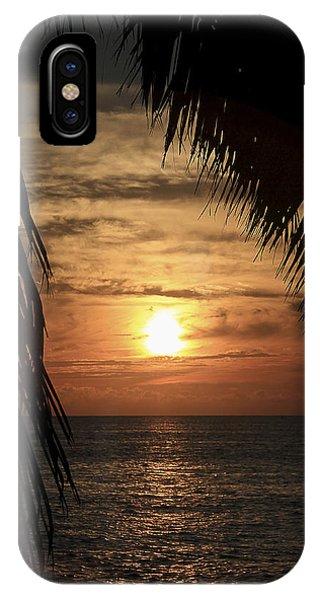 Key West Palm Sunset 2 IPhone Case