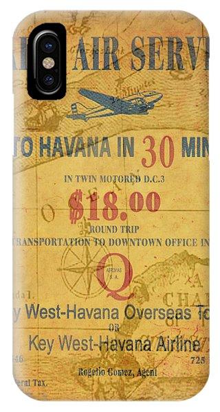 Key West To Havana IPhone Case