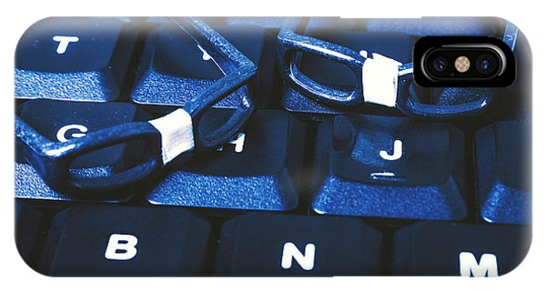 Small Business iPhone Case - Keyboard Coders by Jorgo Photography - Wall Art Gallery