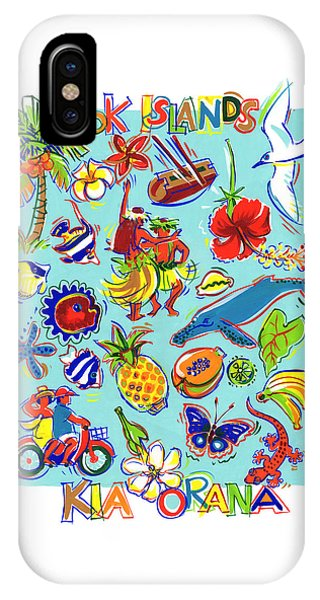 IPhone Case featuring the painting Kia Orana Cook Islands by Judith Kunzle