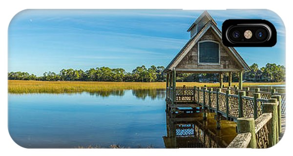 Kiawah Island Boathouse Panoramic IPhone Case