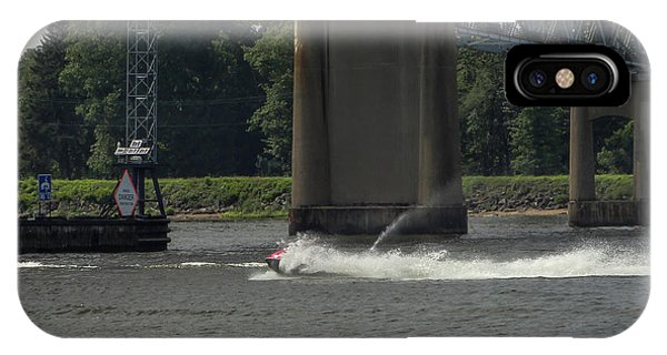 Jet Ski iPhone Case - Kicking Waves On The River by Sean  Devlin