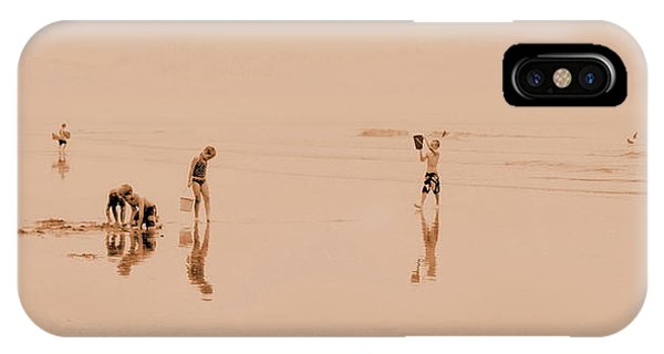 Kids At Play In Sepia IPhone Case