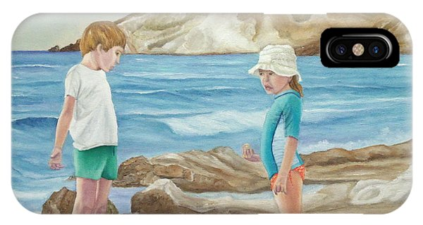 Kids Collecting Marine Shells IPhone Case