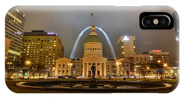 IPhone Case featuring the photograph Kiener Plaza And The Gateway Arch by Matthew Chapman