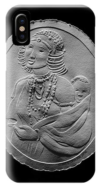 Kikuyu Woman And Child Relief Drawing IPhone Case