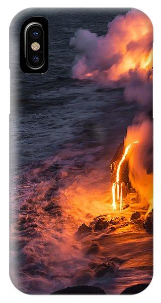 Horizontal iPhone Case - Kilauea Volcano Lava Flow Sea Entry 6 - The Big Island Hawaii by Brian Harig