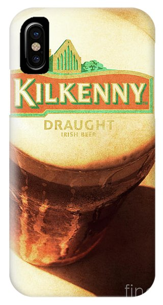 Cold Day iPhone Case - Kilkenny Draught Irish Beer Rusty Tin Sign by Jorgo Photography - Wall Art Gallery
