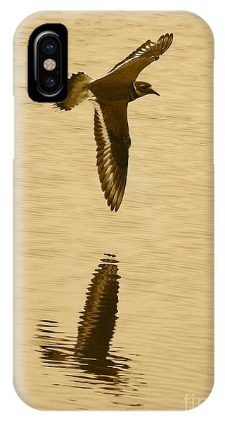 Killdeer iPhone Case - Killdeer Over The Pond by Carol Groenen