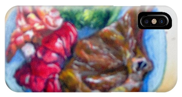 IPhone Case featuring the painting Killer Meal by Saundra Johnson