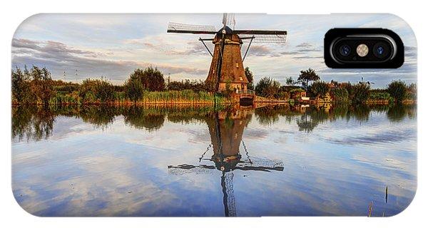 Pond iPhone Case - Kinderdijk by Chad Dutson